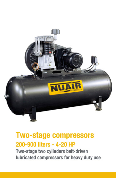 Two-stage compressors