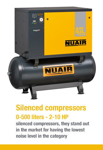 Silenced compressors